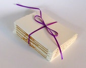 6 Single Signature Booklets with Butterscotch Binding