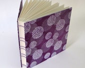Wedding Guest Book, Photo Album, Wedding Album, Mums on Violet, Scrapbook Photo Album, Made to Order