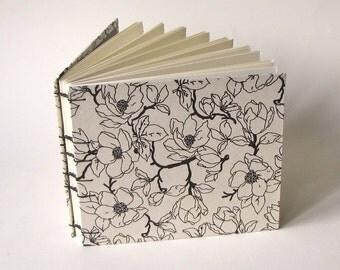 Medium Magnolia on Natural Wedding Guest Book