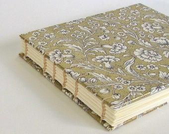 Wedding Guest Book, Gold Italian Paper, Medium Size, Made To Order.