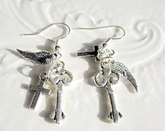 On a Wing and a Prayer Earrings