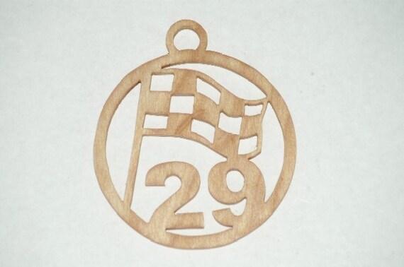 Kevin Harvick - 29  wooden ornament / window hanger