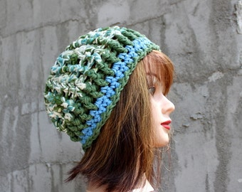 Inside/Outside Slightly Slouchy Reversible Hat  - READY to SHIP