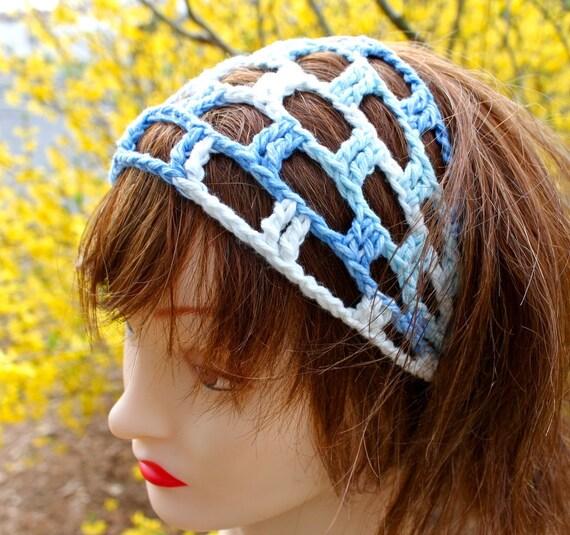 Hammock Headband in Ocean Blues - Beach Collection 2012 - READY to SHIP
