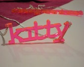 Custom Acrylic Nameplate Necklace - 4 Fonts and 13 Colors