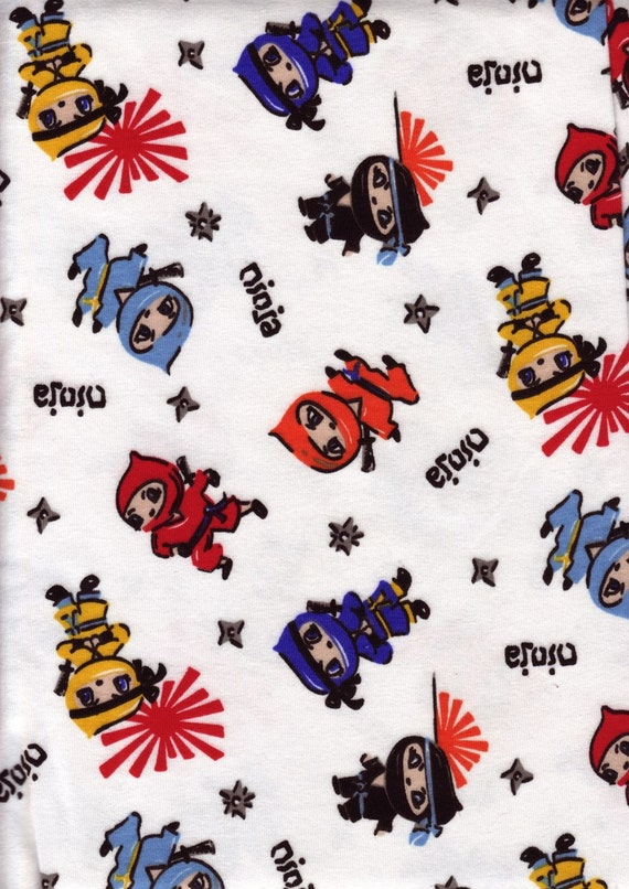 Boutique Ninja Cotton Knit Fabric 1 Yard