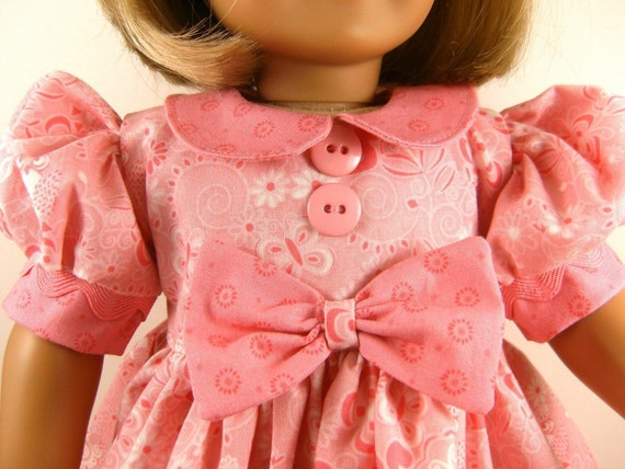 American Girl Doll Clothes 18 Inch Dolls Pink Forest Icons Short Sleeved Dress