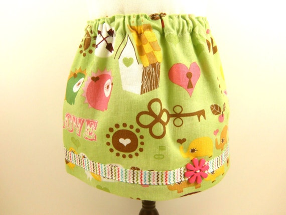 Fits American Girl Doll and Bitty Baby Cotton Retro Icon Print Skirt  With Trim Doll Clothes Girls Toy