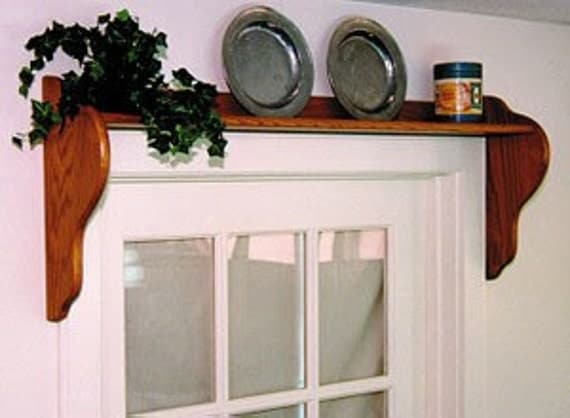 Over Window Door Wall Shelf Pine Wood By Oldvirginiahome