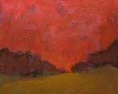 Carmine Sky - Original Painting