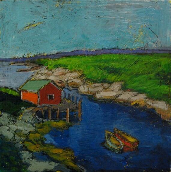 Slow Sundown - original painting