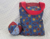 Children's Bag in COWBOY Fabric with matching ball