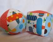 Airplane Cloth Jingle Ball and Block Set Baby Toys