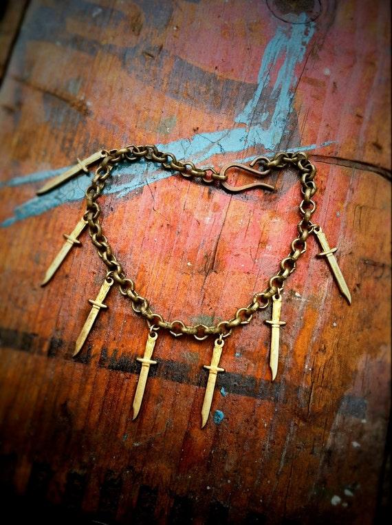 Dagger Charm Bracelet  (SALE- NOW 35% OFF)