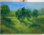 ACEO    PRINT   of my original  oil painting .... Morning Glen ....  Landscape