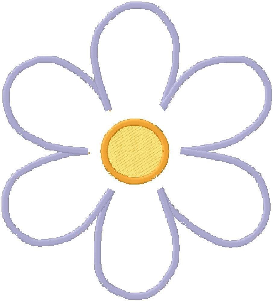 Embroidery Design Applique Simple Flower