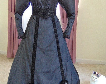 FOR ORDERS ONLY - 1890s Victorian Dress 1893 Edwardian Gown - Walking Skirt - Blouse Bodice - the Gay 90s