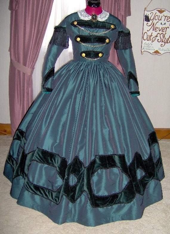 For Orders Only Custom Made 1800s Victorian Dress 1860s