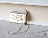 Silver Locket - Envelope with a Secret Message, Perfect for Her