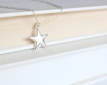 Sterling Silver Star Necklace - Delicate Star Charm