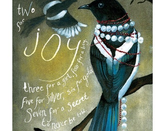 Mr and Mrs Magpie. One for sorrow, Two for Joy.