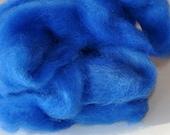 Alpaca Roving Fiber for spinning Sapphire Blue