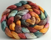 Merino Tencel Roving Hand dyed Harvest combed top