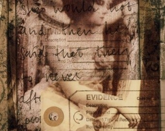 As seen in The Roommate: Thoughts - Mixed media collage by Maria-Therese Sommar, art print 6x8