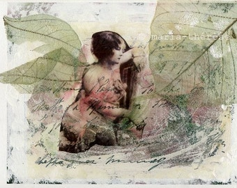 Fairy print, Fine art print, Collage art print, fairy, faerie, woman, wings, FIND YOUR WINGS by afiori