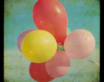 Circus balloons in the sky, ttv photograph, fine art photography, vintage inspired for modern interior design, balloon photo 2