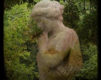 Il Giardino Segreto, The Secret Garden 2, Statue, Fine art photograph, 8x8 print