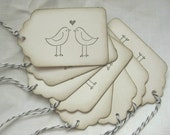 Love Bird Tags - Wish Tags Set of 8