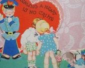 Vintage Cupid's Traffic Cop Stealing A Heart Valentine
