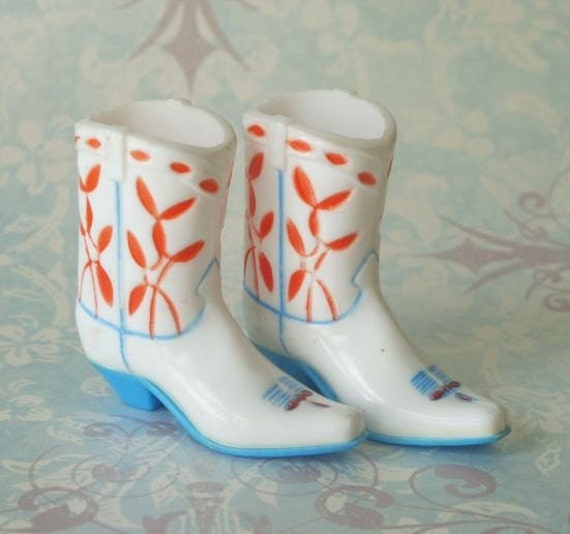 Vintage Cowboy Boots Wilton Cake Decorations by TinselandTrinkets