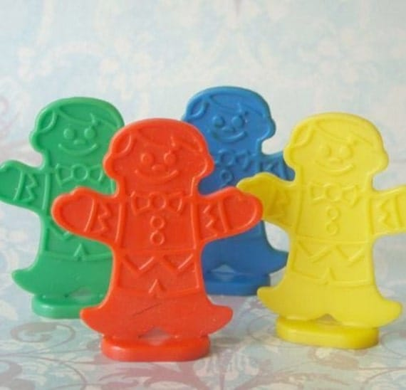 Vintage plastic candy land game pieces lot of by tinselandtrinkets