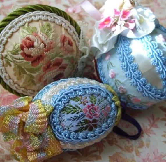 SALE Vintage Handmade Victorian Style Christmas Ornaments Lot
