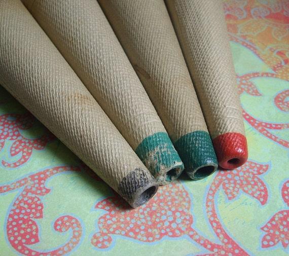 Sale 4 vintage cardboard thread cones for crafts for Cardboard cones for crafts