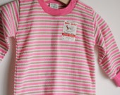 Vintage NWT Baby Girl Knit Shirt - Pink and Green (12m)