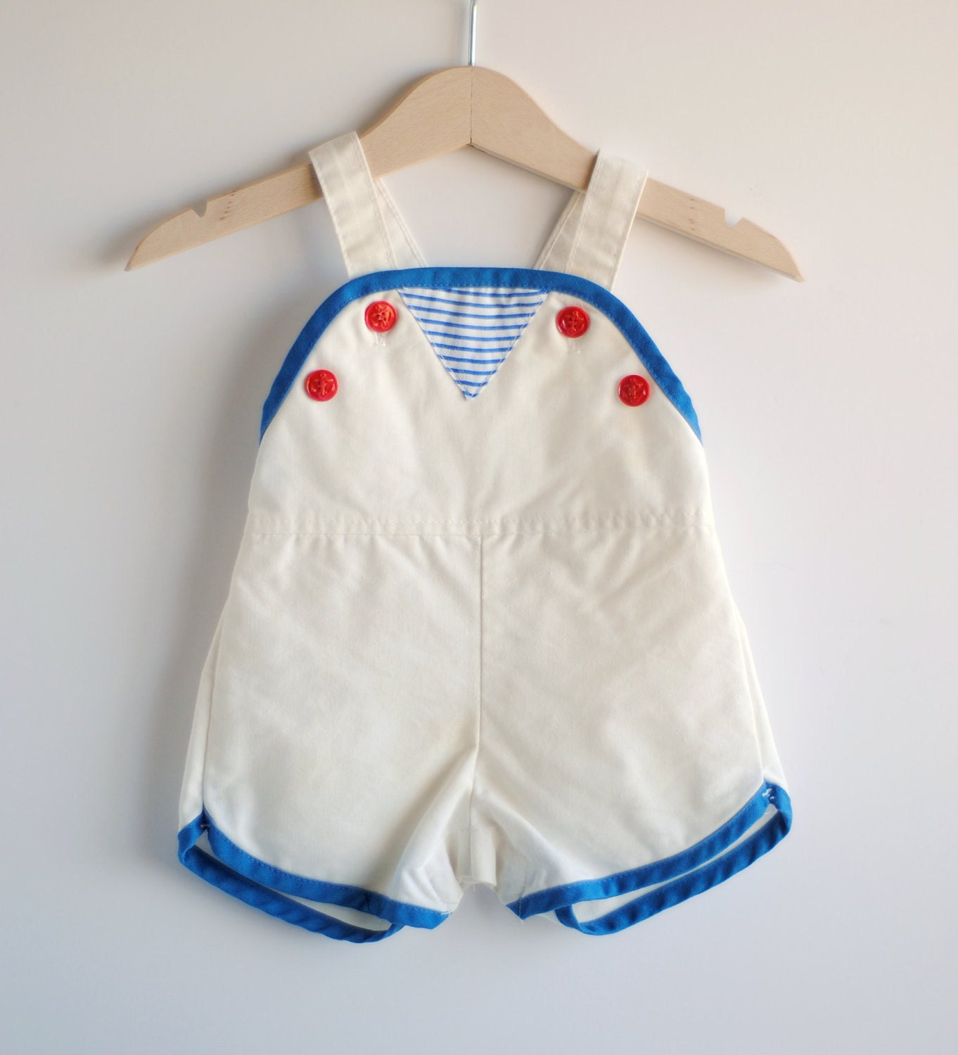 Vintage Baby Boy Romper LITTLE SAILOR 6m