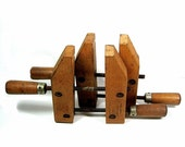 Vintage Wood C Clamps Adjustable Jorgensen 1950s - CoconutRoad