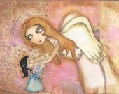 Touch of an angel -  Giclee PRINT from original painting