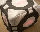 Companion Cube Plush Stool
