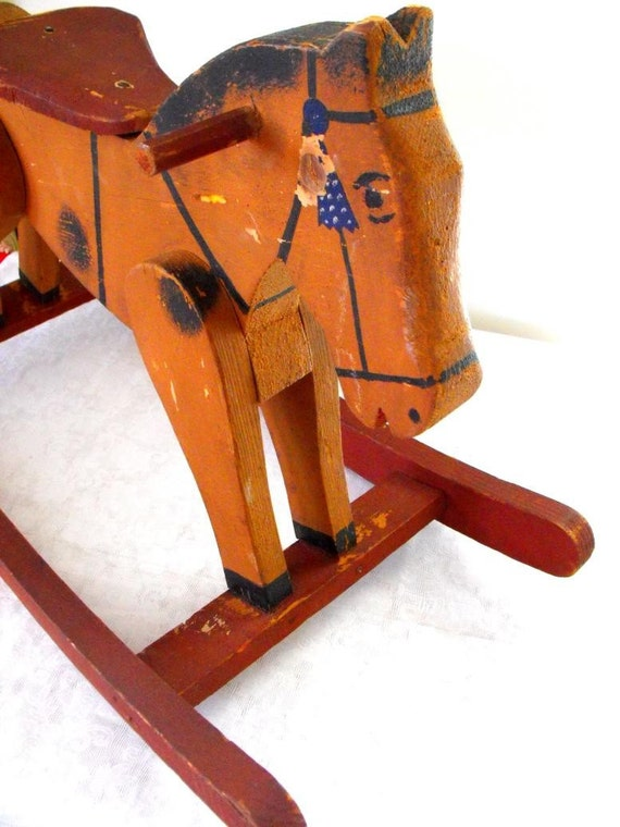 Reserved for bubboantique hand made rocking horse came for Hand crafted rocking horse