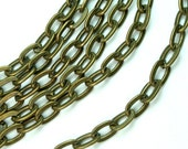 6 FT Heavy Duty Antique Brass Flat Oval Link Cable Chains 5x8mm Per Link