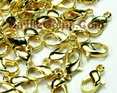 30pcs NEW Gold Parrot Lobster Clasps 12mm - Strong