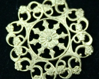 2pcs Filigree Stamping Wrapping Baroque Victorian Raw Brass USA Premium Quality -G6754RB