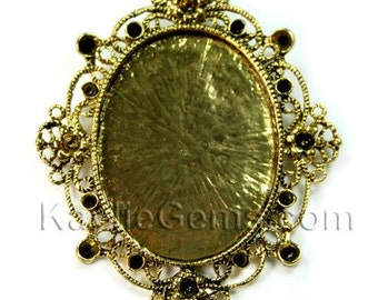 Cameo Frame Setting Base Rhinestone Embellish Decorative FRM-C5019 - 2pcs