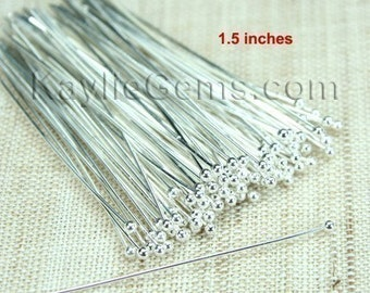 Sale  - For PEARLs Ball Tip Headpins Silver 38mm 1.5 inches 24 Gauge - 500pcs