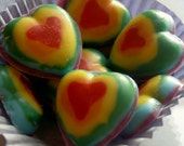 Rainbow Heart Chocolates Handcrafted (30 count)