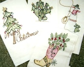Christmas Presence hand embroidery pattern by Hedgehog Productions